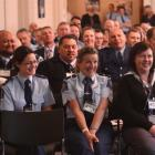 Delegates of the 29th annual New Zealand Blue Light conference and  meeting enjoy opening...
