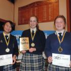 Delighted after winning their sudden death playoff win in the years 9 and 10 section of the Otago...
