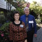 Democrats for Social Credit leader Stephnie de Ruyter  and southern campaign manager Bob Warren...
