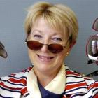 Department of Conservation Marian van der Goes with her collection of sunglasses dating back 40...