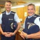 Deputy police commissioner Mike Bush (left) and Southern District police superintendent Bob Burns...