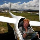 Derek Kraak relaxes before a flight in the 15m racing class at the national gliding championships...