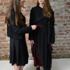 Designer Ariane Bray, who has a label under her own name, works with model Brianna Thomson....