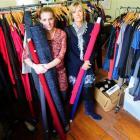 Designer Charmaine Reveley (left) and style consultant Anita Greene prepare for the iD Dunedin...