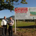 Development manager of Willowridge Developments Allan Dippie (right) stands with  Southern Wide...