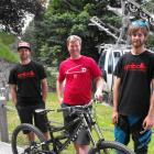 DH Series committee members Corrie Mullin, Jono Head and Jimmy Carling at the bottom of the...