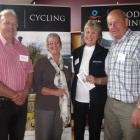 Discussing cycling tourism  are (from left) Roxburgh Gorge Trail Trust chairman Stephen Jeffery,...