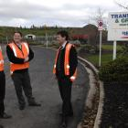 Discussing Delta's silver Enviro-Mark award are (from left) landfill engineer Dave Hanan, systems...