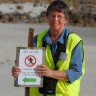 Doc volunteer warden Pat Dean believes there is still room to improve signs. Photo by Gregor...