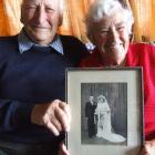 Don and Daphne Louden, of Oamaru, who celebrated their 60th wedding anniversary yesterday. Photo...