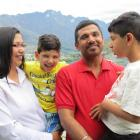 Dr Amanpreet Kaur with her sons Dhruv (5), and Tanmay (7) and her husband Pritpal Singh. Photos...