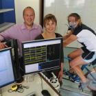 Dr Angela Button and New Zealand International Science Festival director Chris Green put exercise...