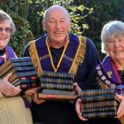 Dressed in Otago Friendly Society ceremonial garb, member Melva Opai (left), deputy provincial...