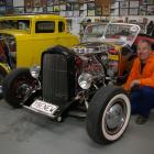 Drew Galog with  the  1927 T-Roadster he is taking to  the NZHRA National Hot Rod Show in Dunedin...