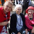 Carol Orbell, of Wanaka, Barbara Blaikie, of Mosgiel, and Sue Orbell, of Luggate.