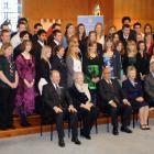 Duke of Edinburgh's Hillary Award recipients pose for a formal photograph at St Hilda's...