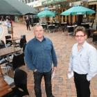 Dunedin bar owners John MacDonald (left) and Phil Ellis say the Dunedin City Council is not doing...