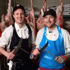 Dunedin butchers James Biggs (left) and Ben Henry who will represent the lower South Island at...