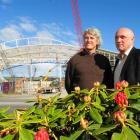 Dunedin City Council botanic garden team leader Alan Matchett (left) and Dunedin Venues...
