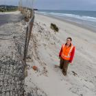 Dunedin City Council parks officer Renee Gordon on Middle beach, at the end of Moana Rua Rd, the...