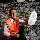 Dunedin City Council Water and Waste Services solid waste manager Ian Featherston with some of...