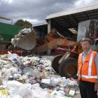 Dunedin City Council Water and Waste Services solid waste manager, Ian Featherston, with some of...
