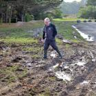 Dunedin city councillor Colin Weatherall is upset about the latest vandalism at Brighton Domain....