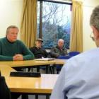 Dunedin city councillor Lee Vandervis speaks to the Mosgiel Taieri Community Board about his anti...