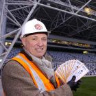 Dunedin Events Management Ltd chief executive David Davies with tickets to the match between the...