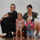 Dunedin family (from left) Markham, Kiana (3), Southern Steel netballer Jodi and Aria (9 months)...