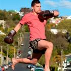 Dunedin kickboxer Nick Aretema is excited about an upcoming trip to Brazil. Photo Stephen Jaquiery.
