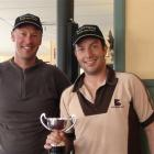 Dunedin man Guy Wilson holds the King of the Hill trophy he won during Sunday's third Black Gold...