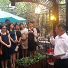 Dunedin Mayor Dave Cull addresses students in Shanghai who had formerly been on exchange to...