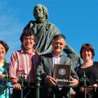 Dunedin Mayor Dave Cull (fourth from left),  University of Otago vice-chancellor Prof Harlene...