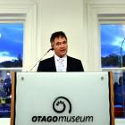 Dunedin Mayor Dave Cull speaks at a function yesterday marking the reopening of the former...
