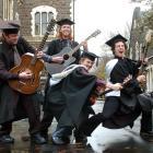 Dunedin musicians (left to right) Ben Hart (27), Sam Rogers (24), Tim Hambleton (28) and Oliver...
