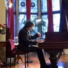 Dunedin pianist Pascal Harris delights his audience at Olveston. Photos by Gregor Richardson.