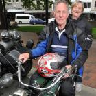 Dunedin resident Colin Winter (68), on his 1926 BSA De Luxe 493cc motorbike, with his wife, Judy,...