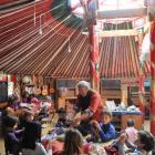 Dunedin Rudolf Steiner School handwork teacher Alex MacNeille leads pupils in knitting, in one of...