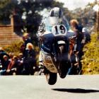 Dunedin's Dennis Ireland and his Suzuki RG500 take off at 260kmh on the way to winning the 1982...