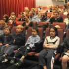 Dunedin school pupils watch the Enviroschools film at the Metro Cinema yesterday.