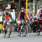 Dunedin students (from left) Lindsey Horne, Letisha Nicholas, Mike Fried, Leander Schulz  and...