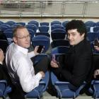 Dunedin Venues Management Ltd operations manager Darren Burden (second from left) studies the...
