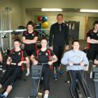 Dunstan Arm Rowing Club members (from left) Jasmine McIntosh (15), Jenna Smith (15), Erin Calder ...
