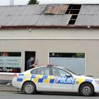 Duty fire safety officer Mike Cahill, of Invercargill, at the scene of a fire in a Green Island...