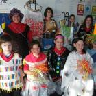 East Gore Primary School pupils (back, from left) Judith Fittes, Brittany McEwan, Shania Cleland,...