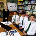 East Otago High School year 12 and 13 history competition winners (from left) Issac Williamson,...