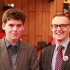 East Otago High School year 13 pupil Keiran Ireland of Warrington with Dunedin North MP Dr David...