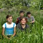 East Taieri School pupils (from left) Maddie Campbell (11), Curtis Stent (10), Charlotte Cotter ...