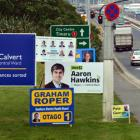 Election hoardings are appearing around Dunedin as local body election campaigns gather pace....
